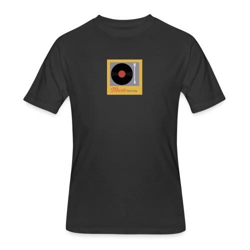 Music Truth Retro Record Label - Men's 50/50 T-Shirt