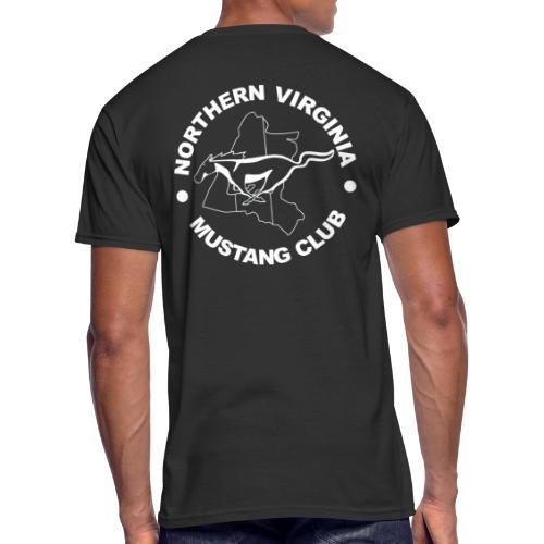 Heritage white on black logo t-shirt - Men's 50/50 T-Shirt