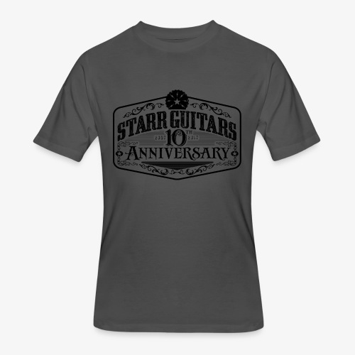 Starr Guitars 10th Anniversary Black Logo - Men's 50/50 T-Shirt