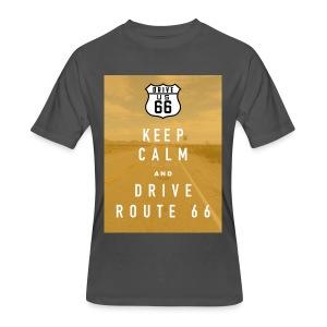 Route 66 Keep Calm T-Shirt - Men's 50/50 T-Shirt