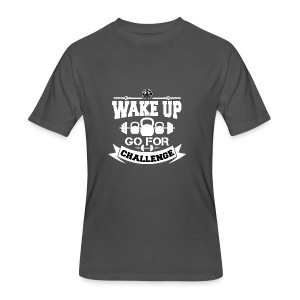 Wake Up and Take the Challenge - Men's 50/50 T-Shirt