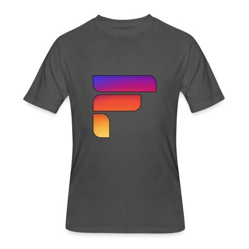 Frosty Rainbow Logo Center - Men's 50/50 T-Shirt