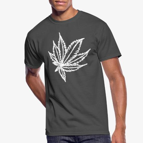 white leaf - Men's 50/50 T-Shirt