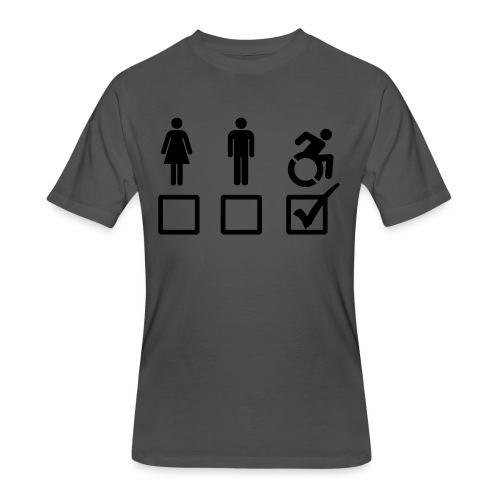 A wheelchair user is also suitable - Men's 50/50 T-Shirt