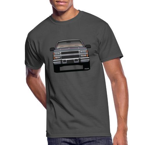 Design Icon: American Bowtie Silver Urban Truck - Men's 50/50 T-Shirt