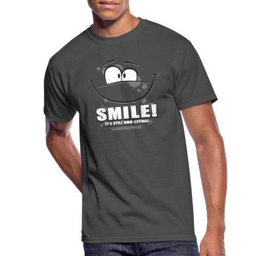 Smile - it's still non-lethal - Men's 50/50 T-Shirt