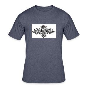 floral motif 6 lg - Men's 50/50 T-Shirt