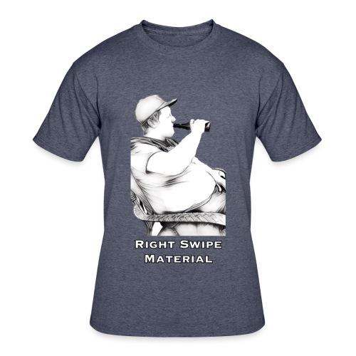 Right Swipe Material - Men's 50/50 T-Shirt