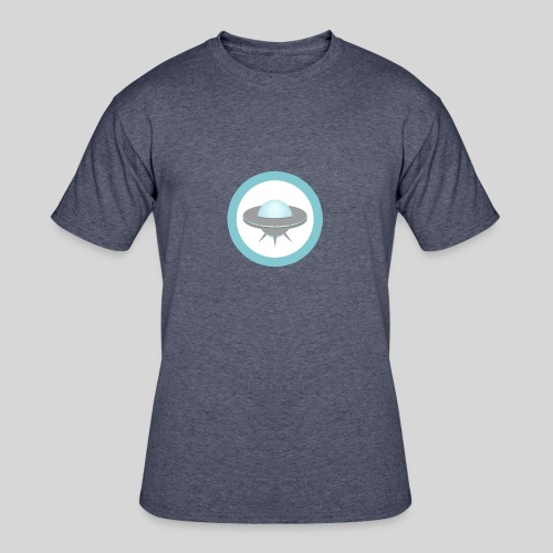 ALIENS WITH WIGS - Small UFO - Men's 50/50 T-Shirt