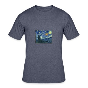 Starry Night Drone - Men's 50/50 T-Shirt