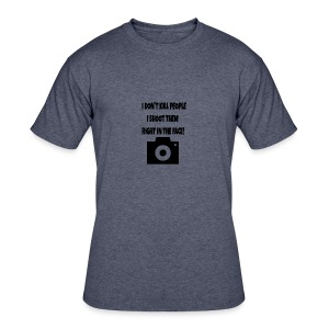right in the face - Men's 50/50 T-Shirt