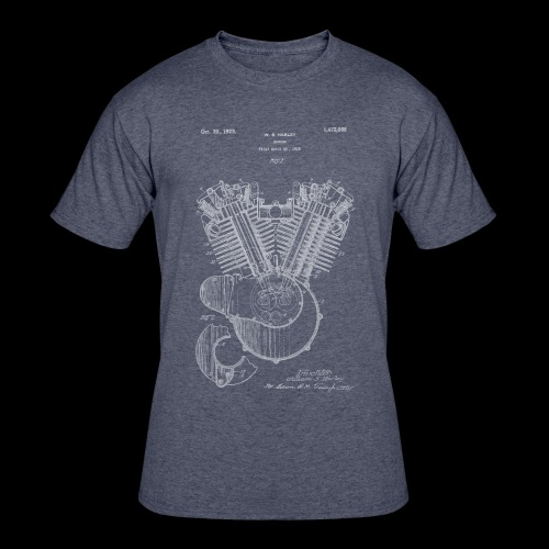Authentic V-twin HD Motorcycle Engine Patent 1919 - Men's 50/50 T-Shirt