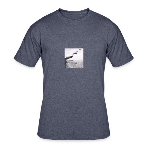 The dog and bird - Men's 50/50 T-Shirt