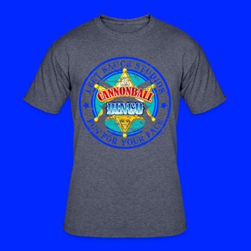 Vintage Cannonball Bingo Badge Blue - Men's 50/50 T-Shirt
