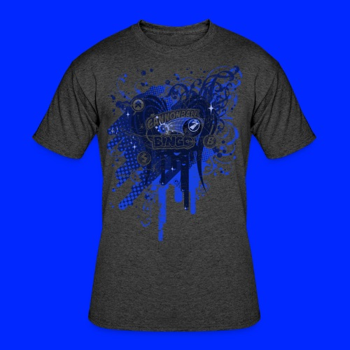 Vintage Cannonball Bingo Drip Blue - Men's 50/50 T-Shirt