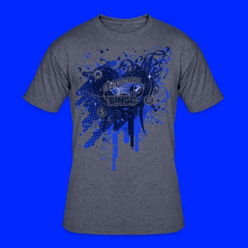 Vintage Cannonball Bingo Drip Blue - Men's 50/50 T-Shirt