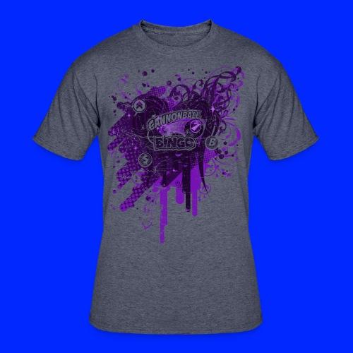 Vintage Cannonball Bingo Drip Purple - Men's 50/50 T-Shirt