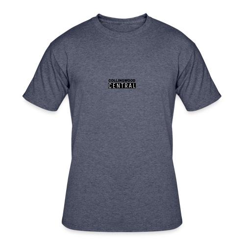 BLK Collingwood Central Logo - Men's 50/50 T-Shirt