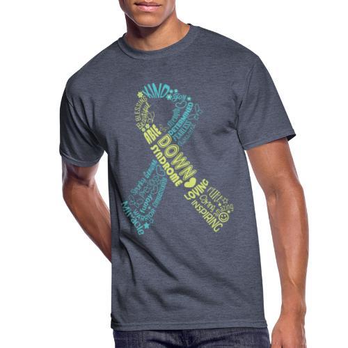 Down syndrome Ribbon Wordle - Men's 50/50 T-Shirt