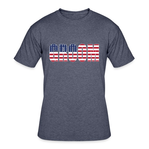 Groom US Flag - Men's 50/50 T-Shirt