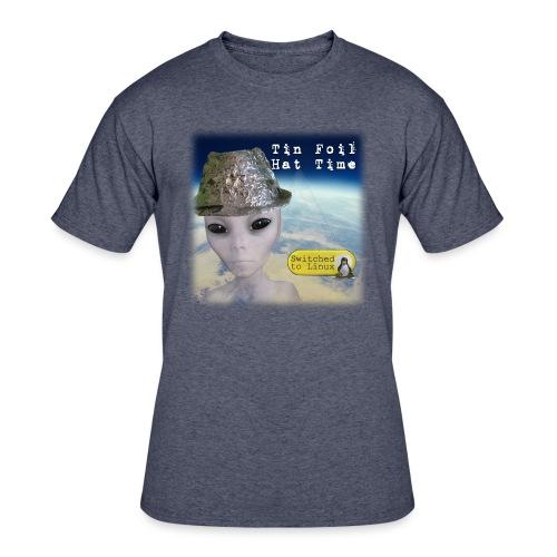 Tin Foil Hat Time (Earth) - Men's 50/50 T-Shirt