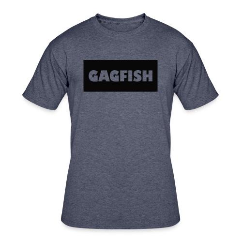 GAGFISH BLACK LOGO - Men's 50/50 T-Shirt