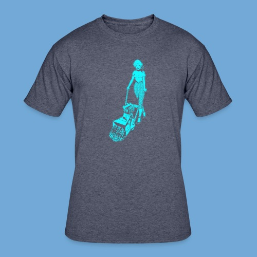 Roto-Hoe Cyan. - Men's 50/50 T-Shirt
