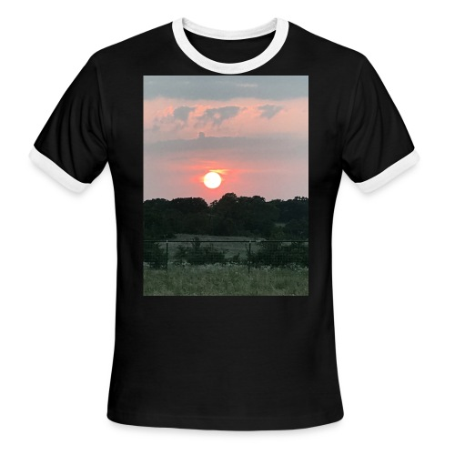Nature Sunset - Men's Ringer T-Shirt