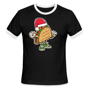 Taco Santa Hat Shirt - Men's Ringer T-Shirt