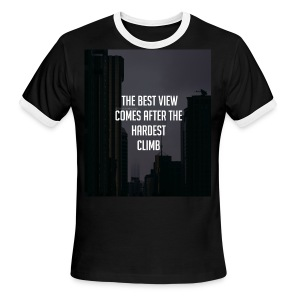 THE BEST VIEW COMES AFTER THE HARDEST CLIMB - Men's Ringer T-Shirt