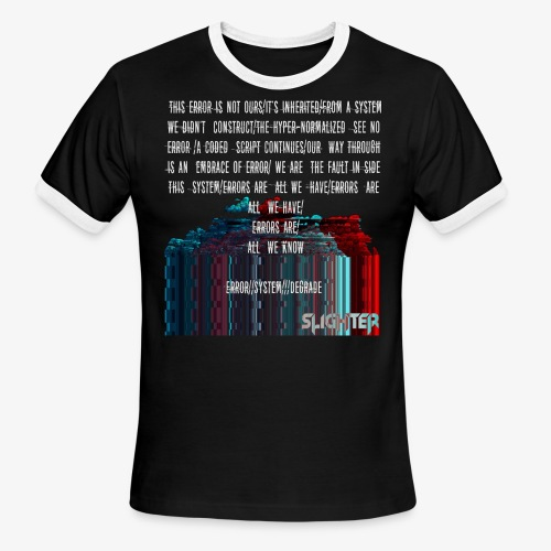 ERROR Lyrics - Men's Ringer T-Shirt