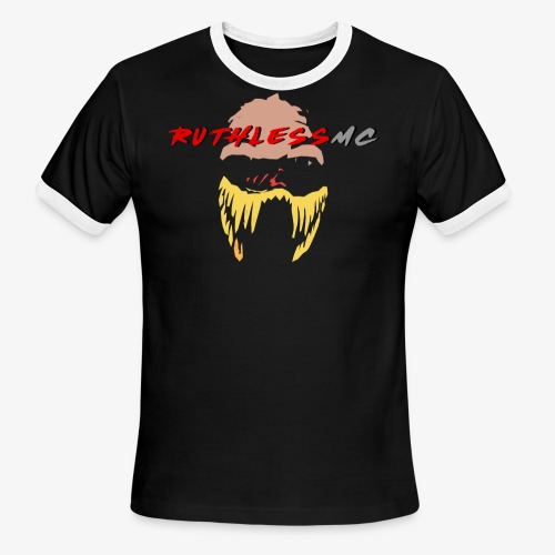 ruthless mc color logo t shirt - Men's Ringer T-Shirt