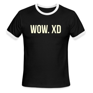 WOW. XD - Men's Ringer T-Shirt