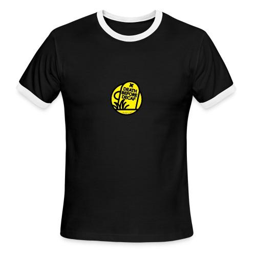 Death Before Decaf - Men's Ringer T-Shirt