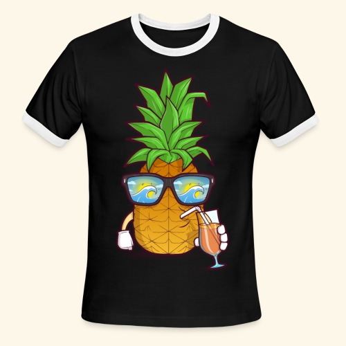 Pinapple Blue Sea - Men's Ringer T-Shirt