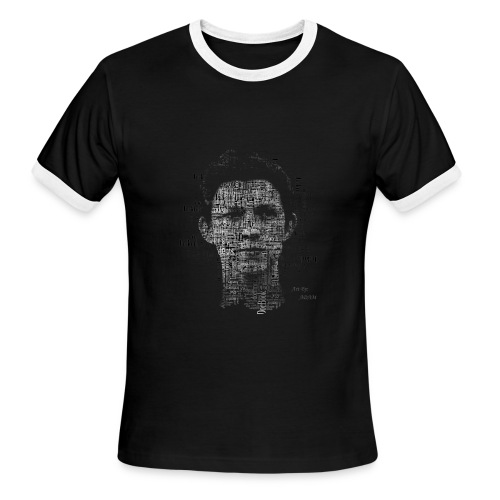 Tom Holland Text Potrait - Men's Ringer T-Shirt