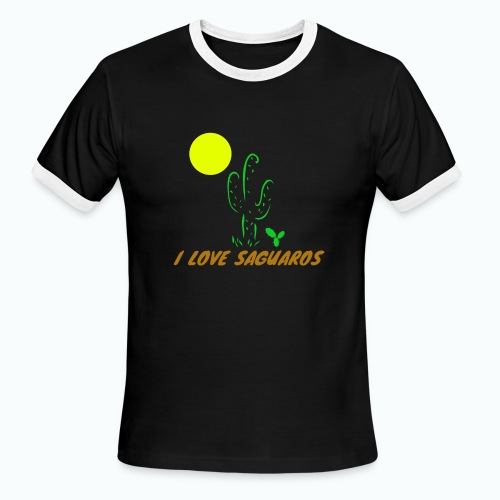 I Love Saguaros - Men's Ringer T-Shirt