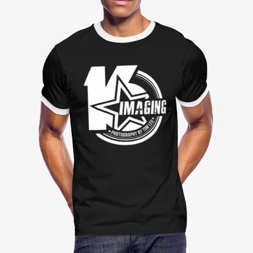 16 Badge White - Men's Ringer T-Shirt