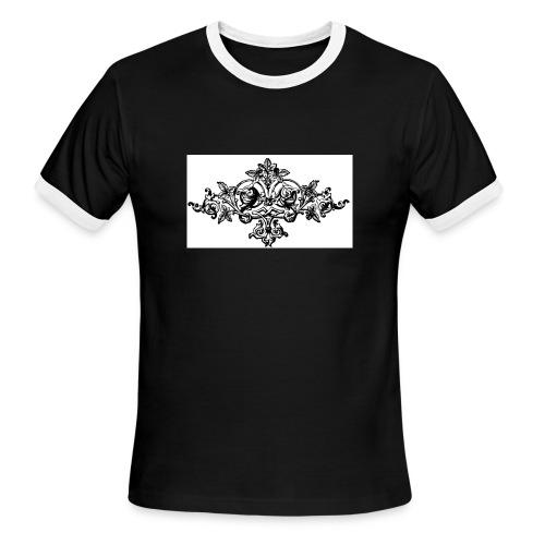 floral motif 6 lg - Men's Ringer T-Shirt