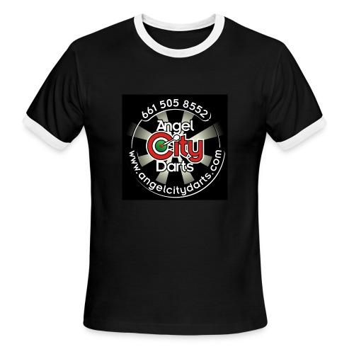 logo on black - Men's Ringer T-Shirt