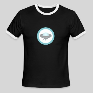 ALIENS WITH WIGS - Small UFO - Men's Ringer T-Shirt