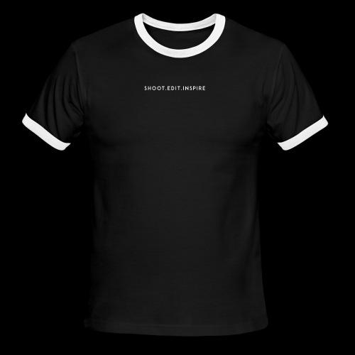 shoot edit inspire large - Men's Ringer T-Shirt