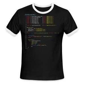 Frankenstein made with Angular - Men's Ringer T-Shirt