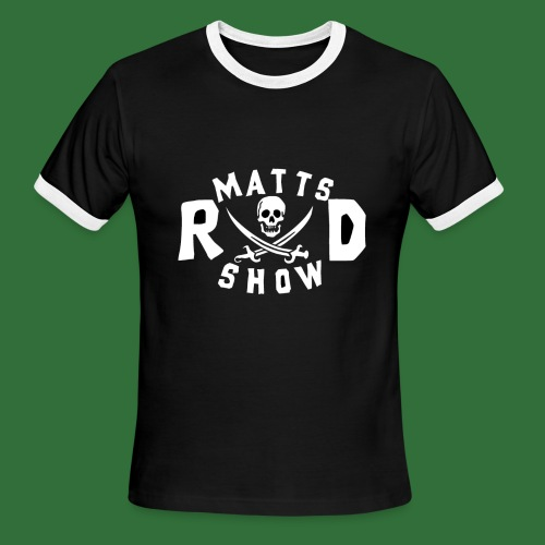 Matts Rad Show Round Logo 2 - Men's Ringer T-Shirt