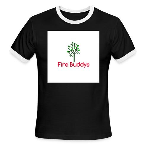 Fire Buddys Website Logo White Tee-shirt eco - Men's Ringer T-Shirt