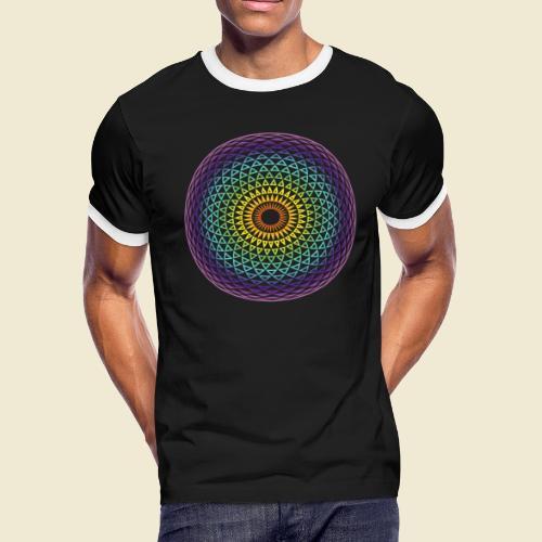 Torus Yantra Hypnotic Eye rainbow - Men's Ringer T-Shirt