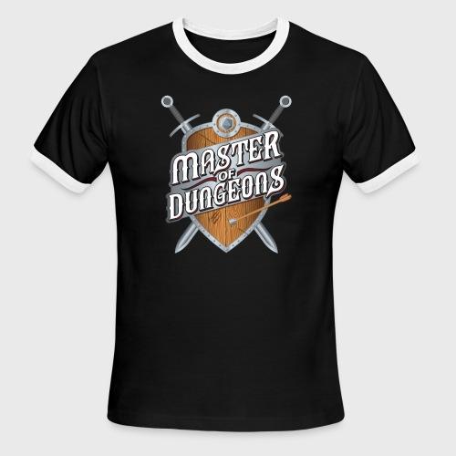 master of dungeons shield and swords fantasy gift - Men's Ringer T-Shirt