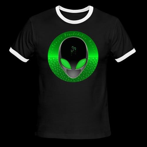Psychedelic Alien Dolphin Green Cetacean Inspired - Men's Ringer T-Shirt