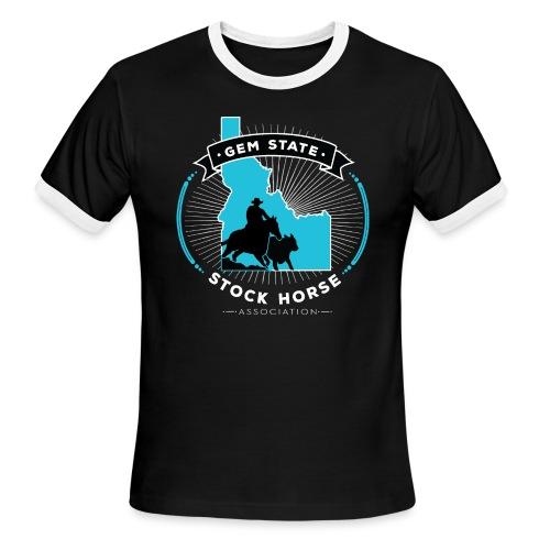 Turquose Sunburst Logo - Men's Ringer T-Shirt