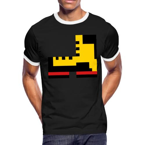 Pixel Boot VECTOR small - Men's Ringer T-Shirt